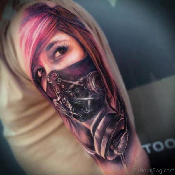 Stunning Mask Tattoo