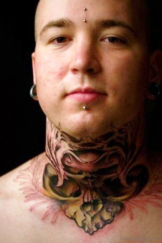 Stunning Neck Tattoo Design