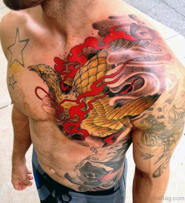 Stunning Phoenix Shoulder Tattoo
