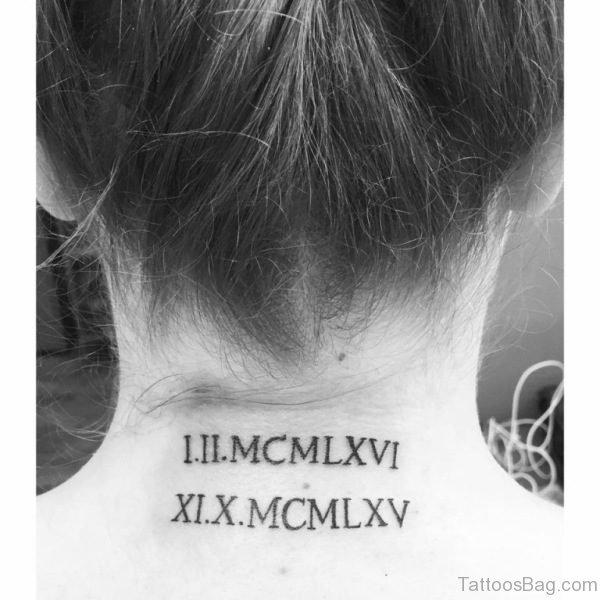 Stunning Roman Numeral Tattoo Design