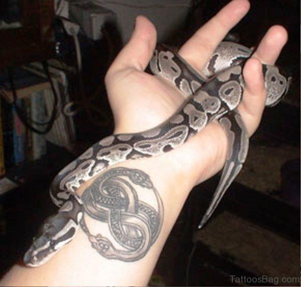 Stunning Snake Wrist Tattoo