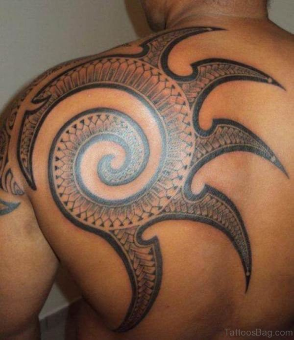 Stunning Sun Shoulder Blade Tattoo