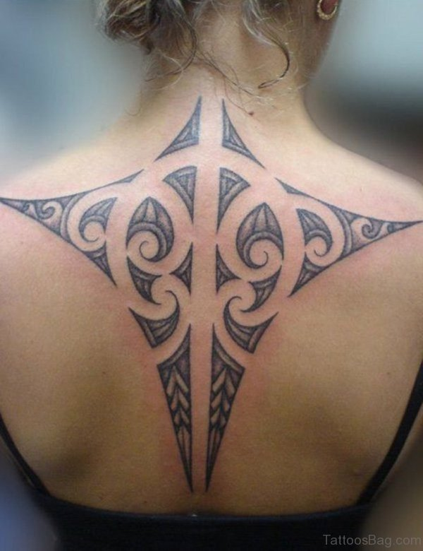 Stunning Tribal Neck Tattoo