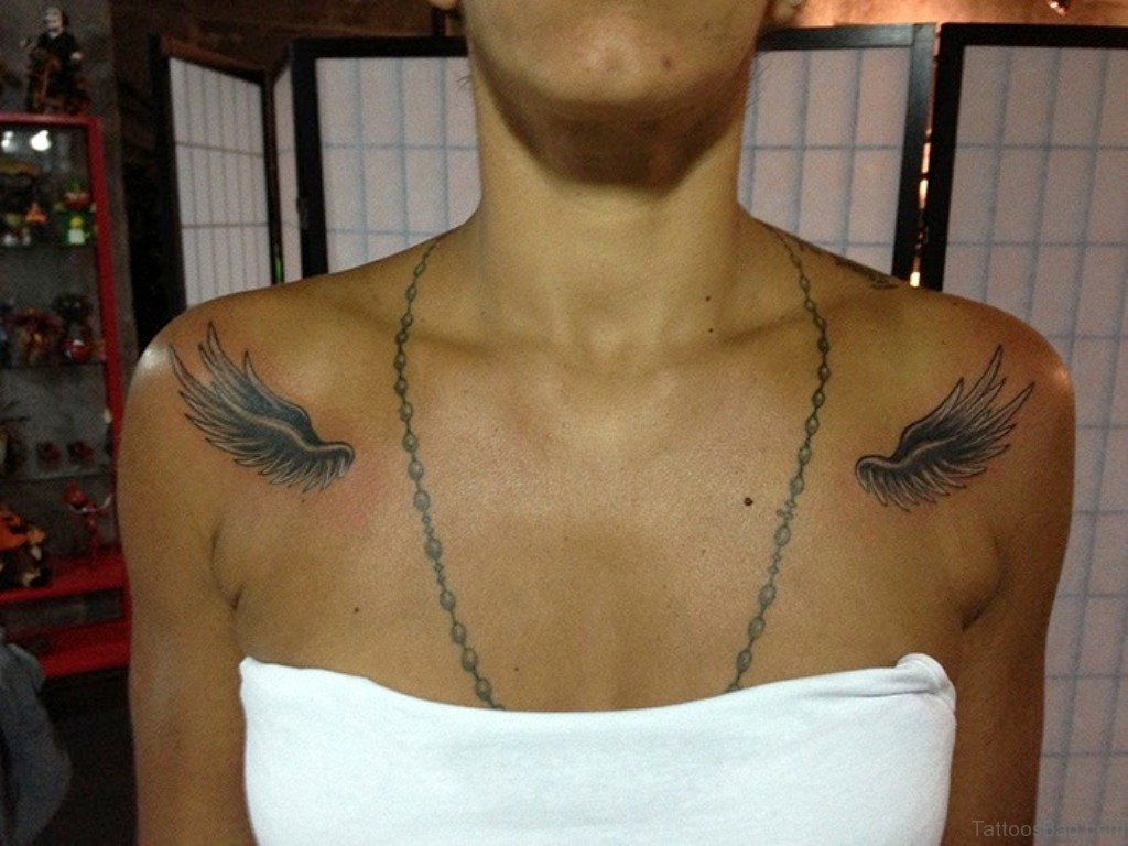 Angel Wings Shoulders Tattoos: 84 Amazing Angel Wings Shoulder Tattoos