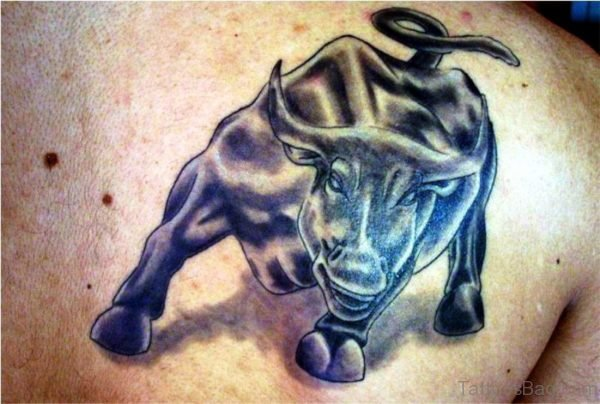 Stupendous Bull Tattoo On Shoulder