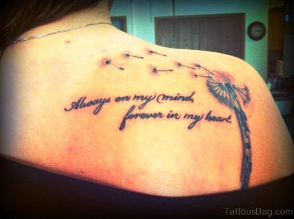 Stupendous Dandelion Tattoo Design