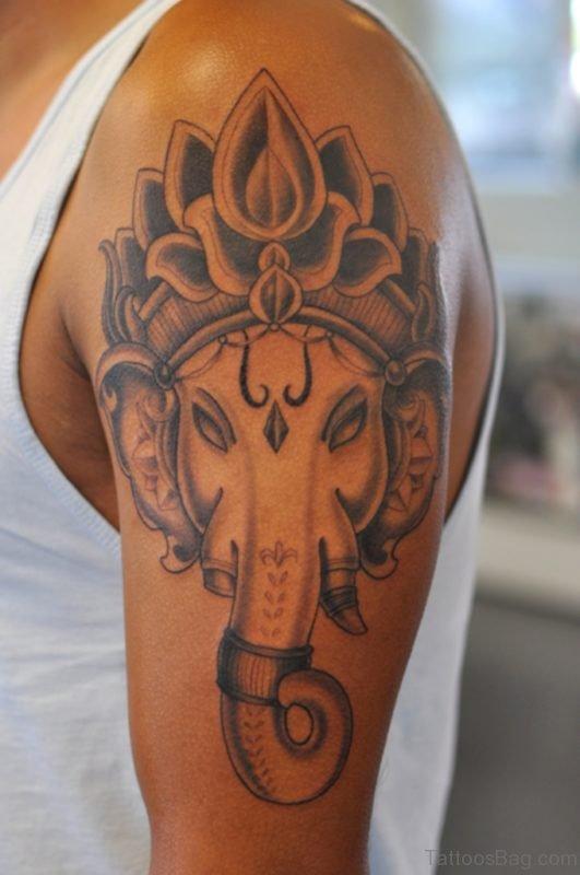 Stuuning Ganesha Tattoo