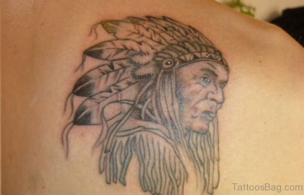 Stylish American Native Tattoo