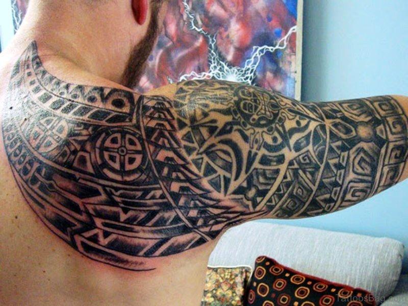 47 best aztec tattoos on shoulder. Black Bedroom Furniture Sets. Home Design Ideas