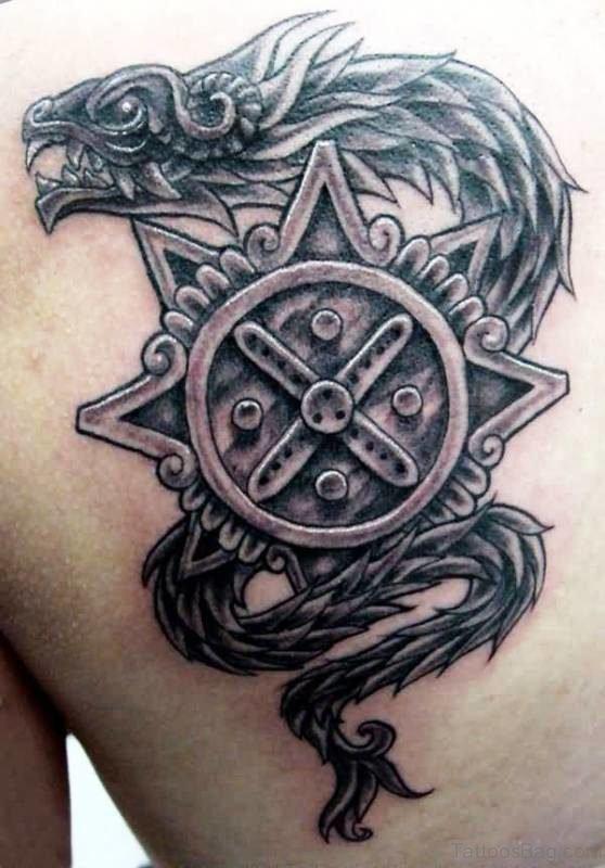 Stylish Black Aztec Tattoo