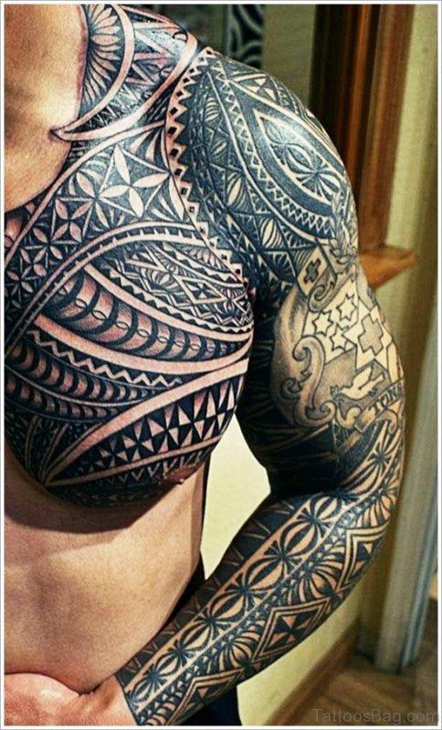 Stylish Black Maori Tattoo
