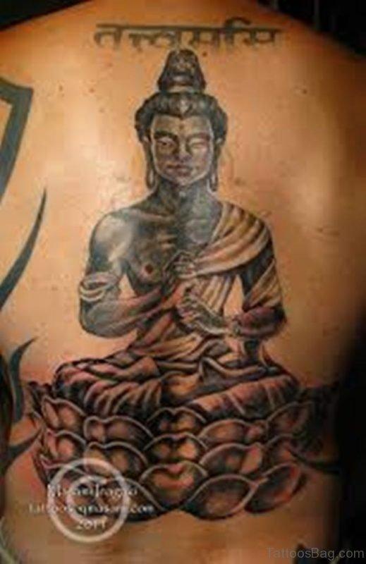 Stylish Buddha Tattoo