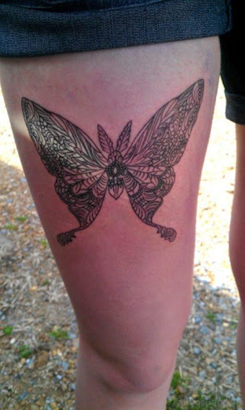 Stylish Butterfly Tattoo