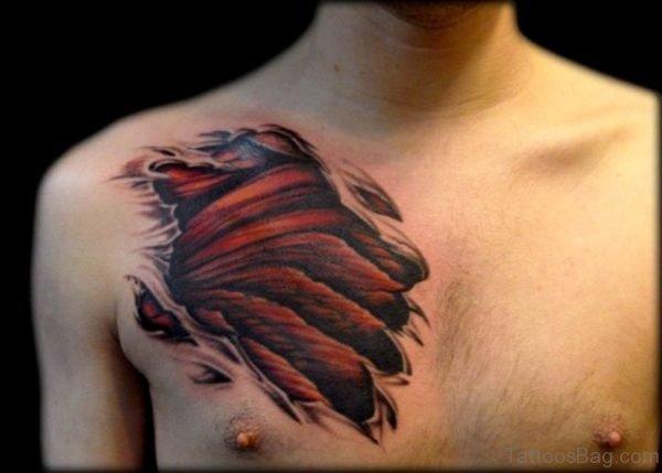 Stylish Claw Tattoo On Chest
