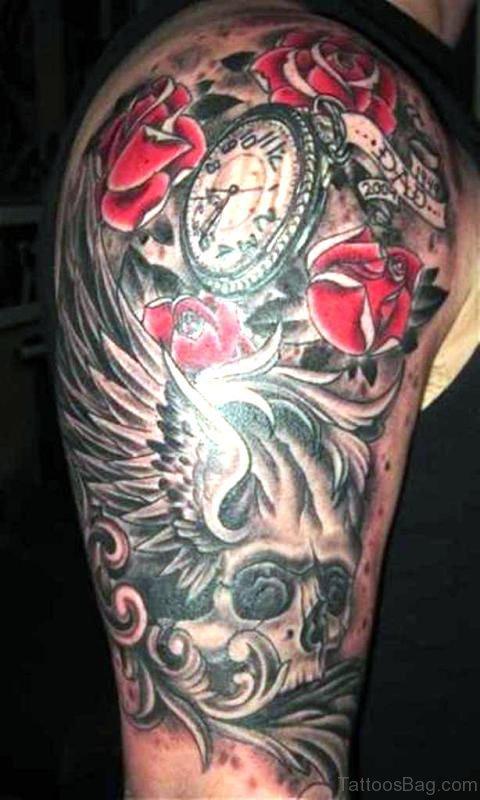 Stylish Clock Designer Tattoo