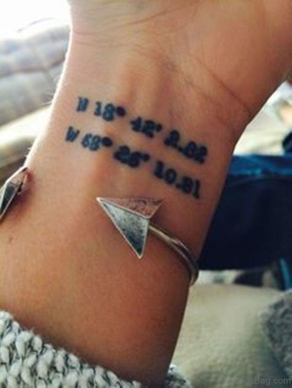 Stylish Coordinates Wrist Tattoo