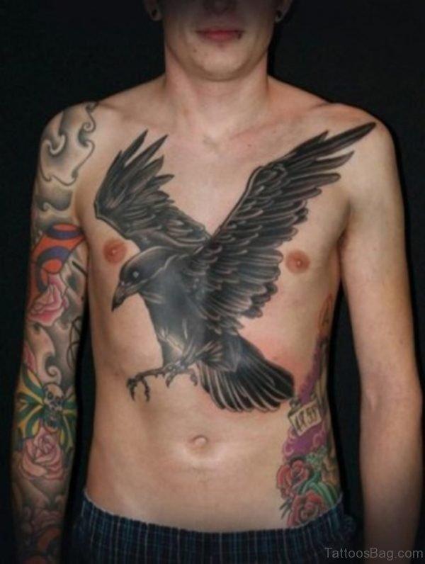 Stylish Crow Tattoo
