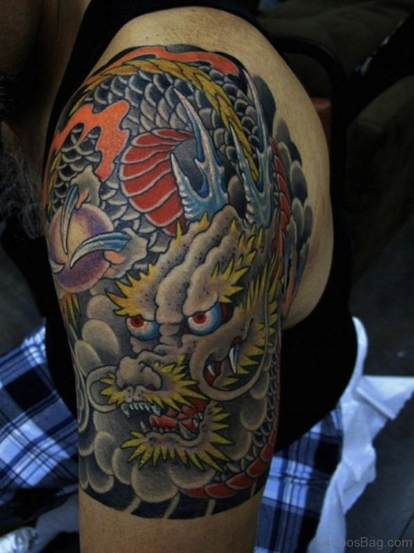 Stylish Dragon Japanese Tattoo