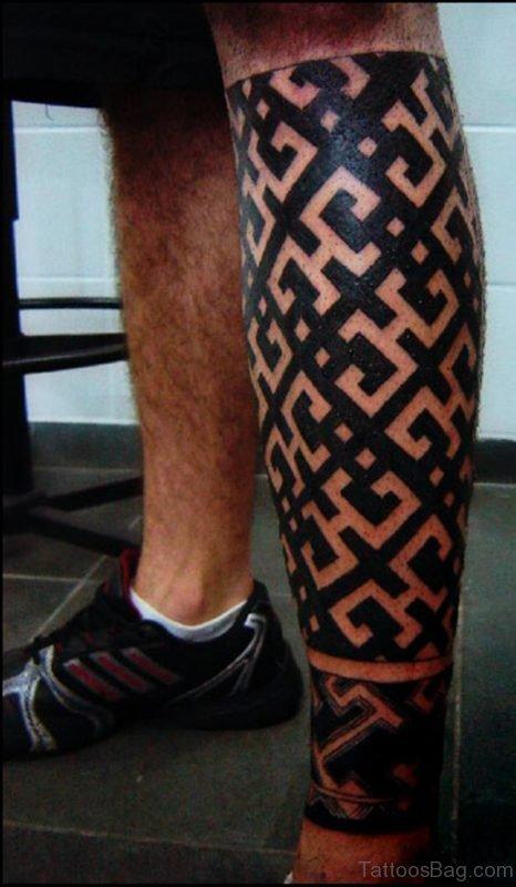 Stylish Geometric Tattoo Design