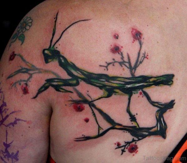Stylish Grassoper Tattoo