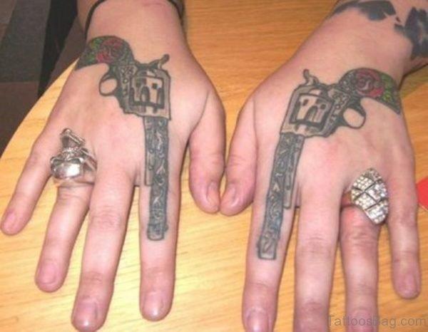 Stylish Gun Tattoo Design