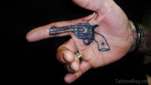 Stylish Gun Tattoo