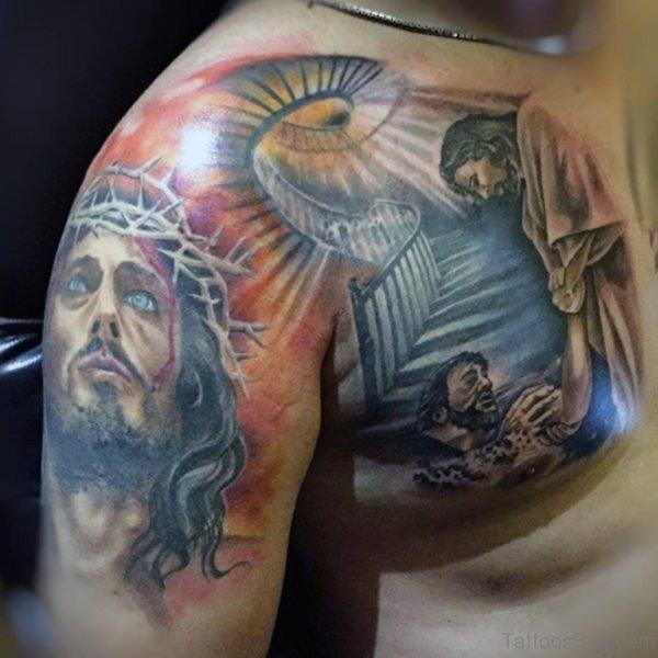 Stylish Jesus Tattoo Design