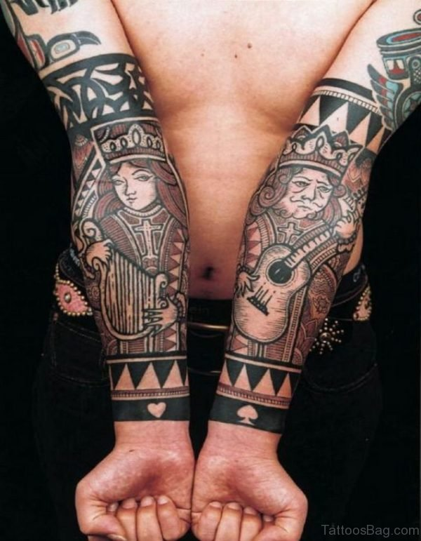 Stylish King And Queen TAttoo