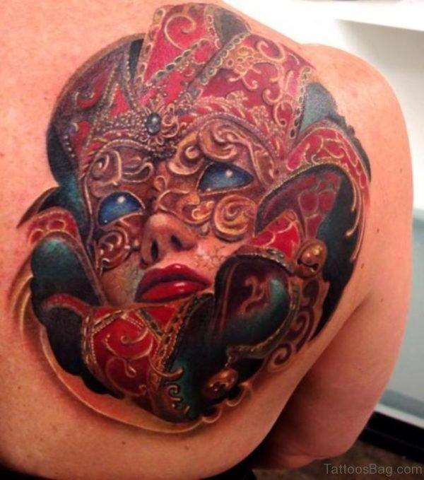 Stylish Mask Tattoo