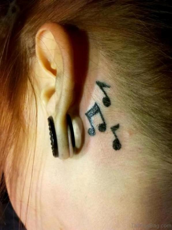 Stylish Music Tattoo