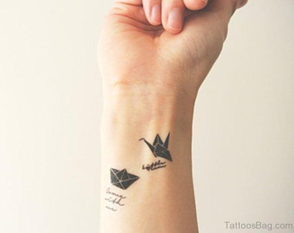 Stylish Plane Tattoo On Wrist