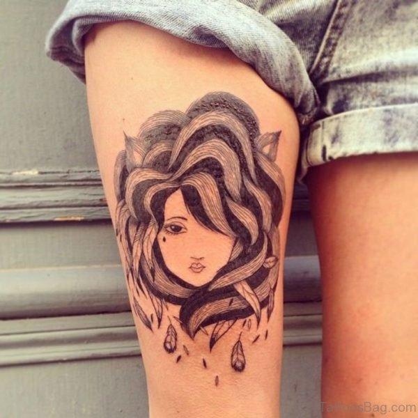 Stylish Portrait Tattoo