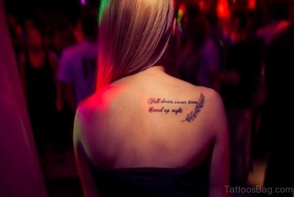 Stylish Shoulder Tattoo Quote