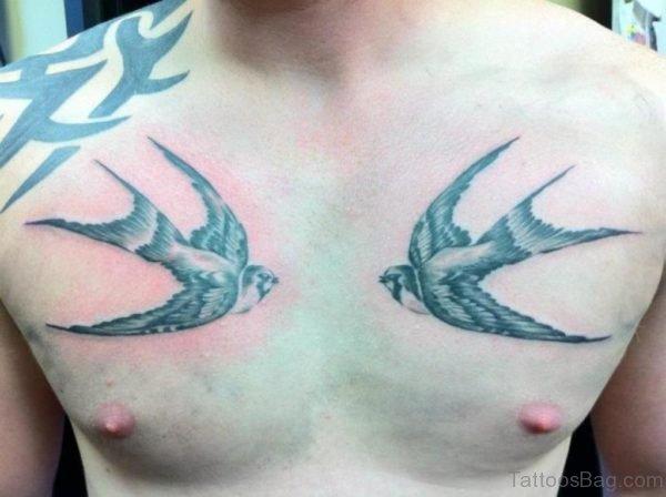 Stylish Swallow Tattoo