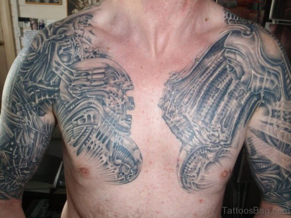 Stylish Tattoo On Chest