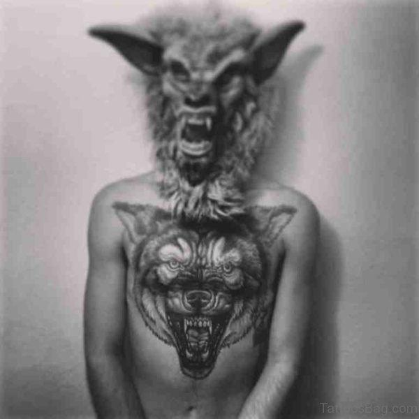 Stylish Wolf Tattoo