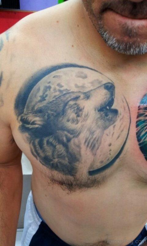 Stylish Wolf Tattoo Design