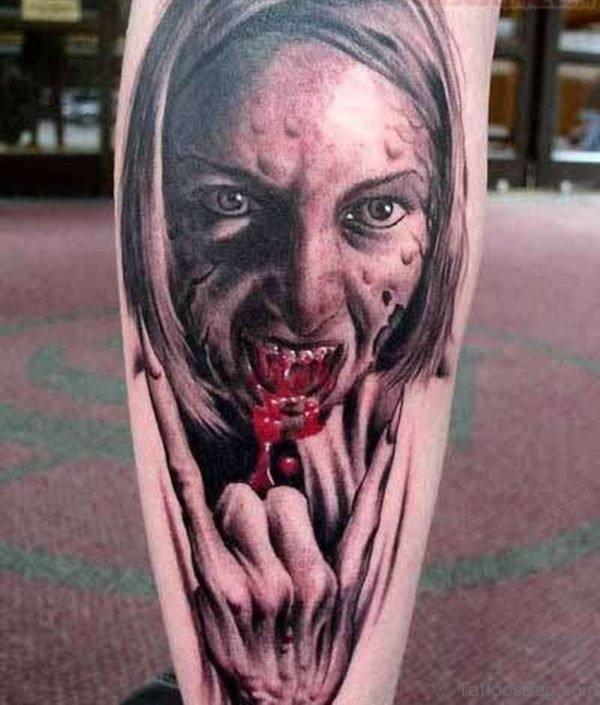 Stylish Zombie Tattoo Design