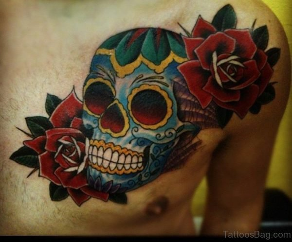 Sugar With Rose Tattoo