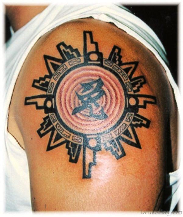 Sun Aztec Tattoo