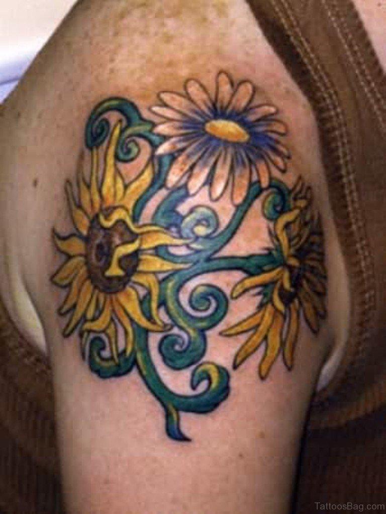 Sunflower Tattoo: 71 Stunning Sunflower Tattoos On Shoulder