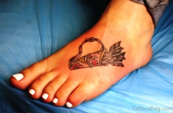 Superb Arrows Tatto On Foot