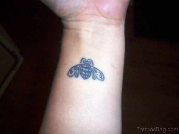 Superb Bee Tattoo On Wrist