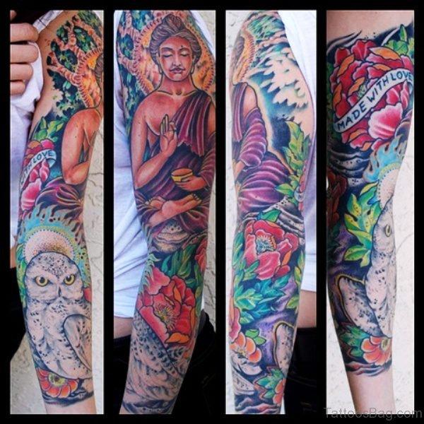 Superb Buddha Tattoo Design