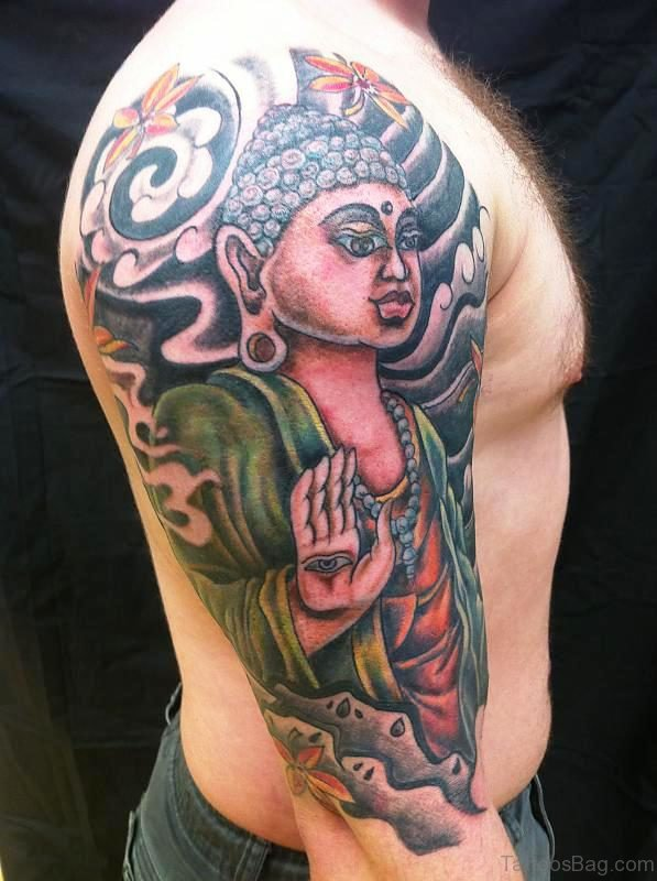 Superb Buddha Tattoo Full Sleeve