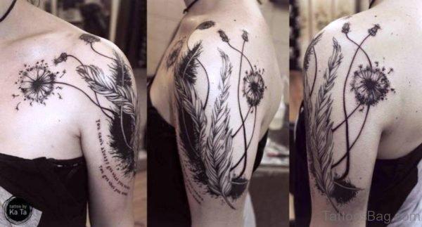 Superb Dandelion Tattoo Design