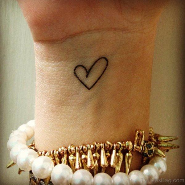 Superb Heart Tattoo On Wrist