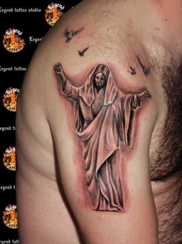 Superb Jesus Tattoo