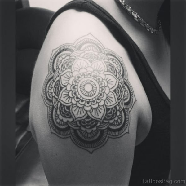 Superb Mandala Tattoo On Shoulder