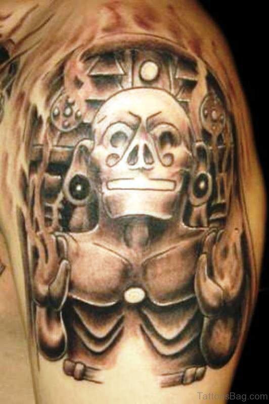 Superior Aztec Shoulder Tattoo
